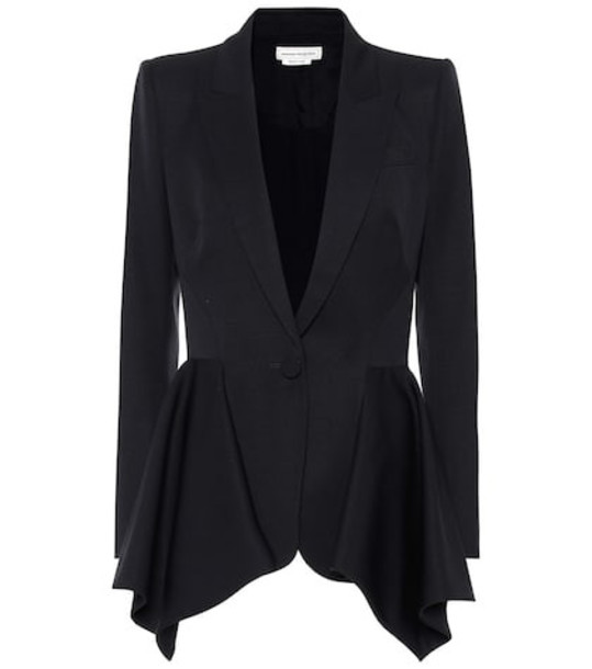 Alexander McQueen Wool blazer in blue