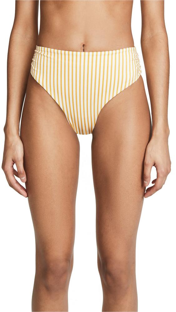 Tori Praver Swimwear Symone Bikini Bottoms in saffron