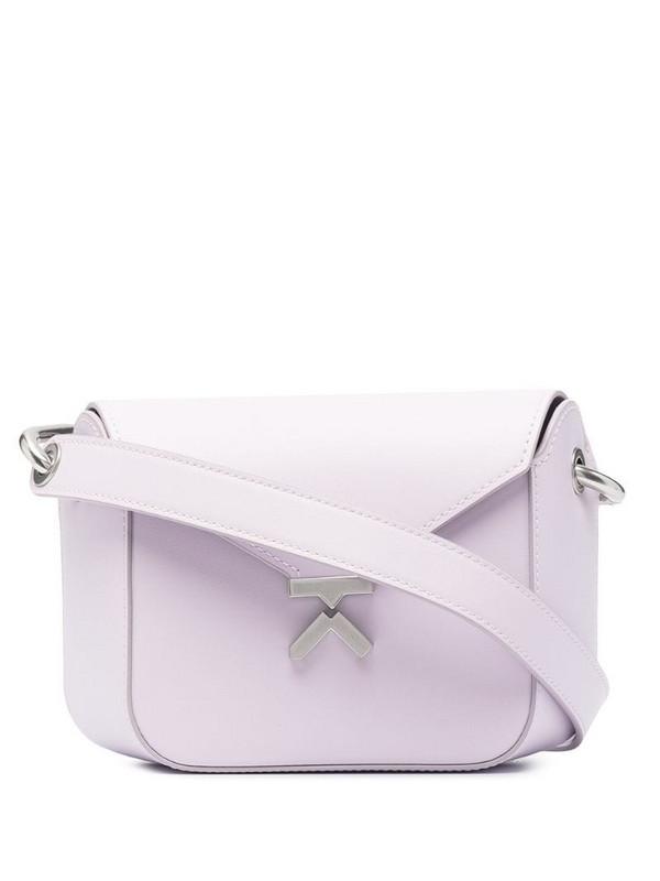 Kenzo K leather crossbody bag in purple