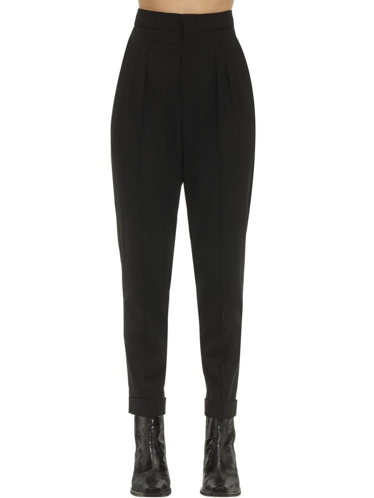 ISABEL MARANT Pelisso Wool Suit Pants in black