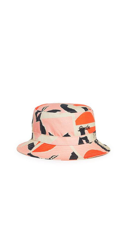 Brixton Sprint Bucket Hat in pink / red