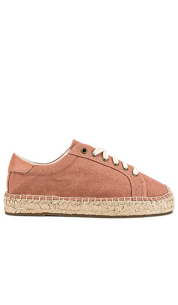Soludos Izzy Espadrille Sneaker in Mauve in pink