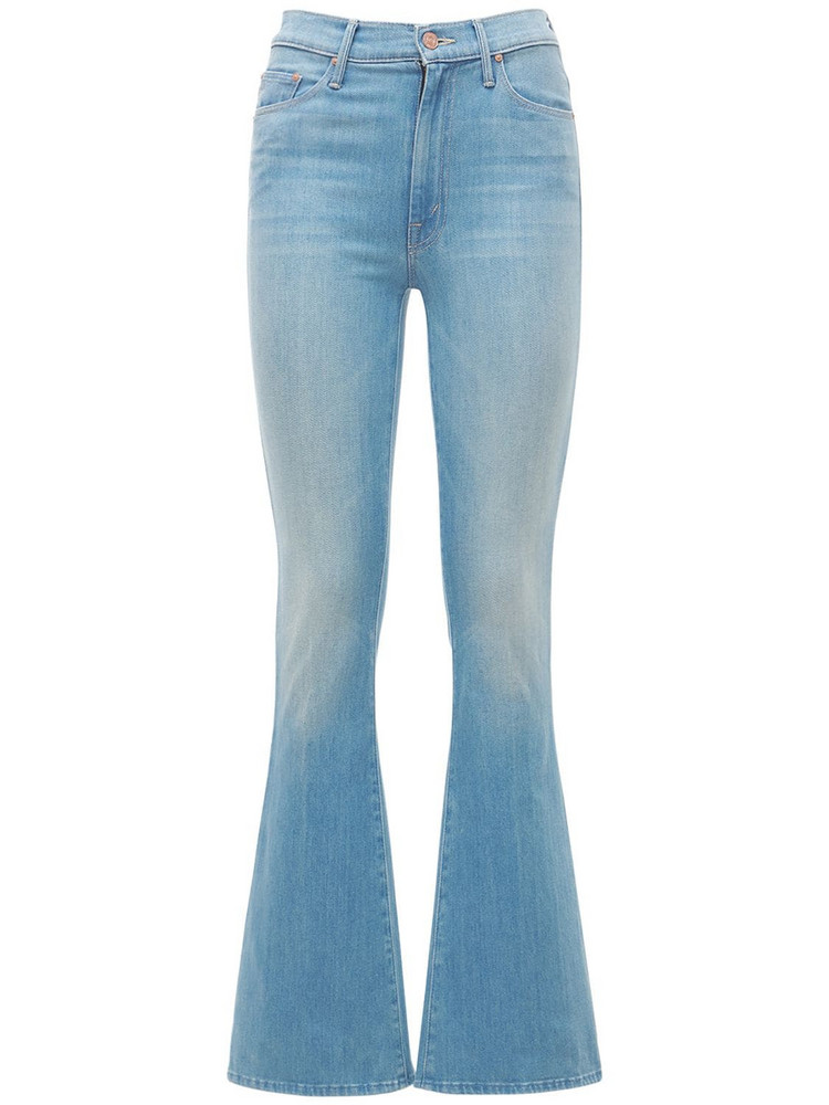 MOTHER Weekender High Waisted Flared Jeans in blue