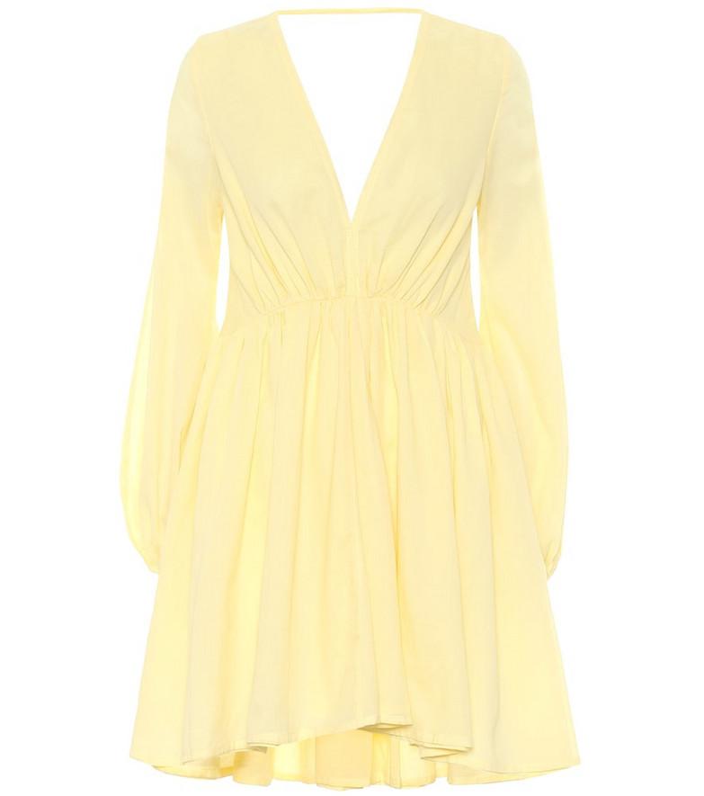 Kalita Exclusive to Mytheresa – Aphrodite cotton minidress in yellow