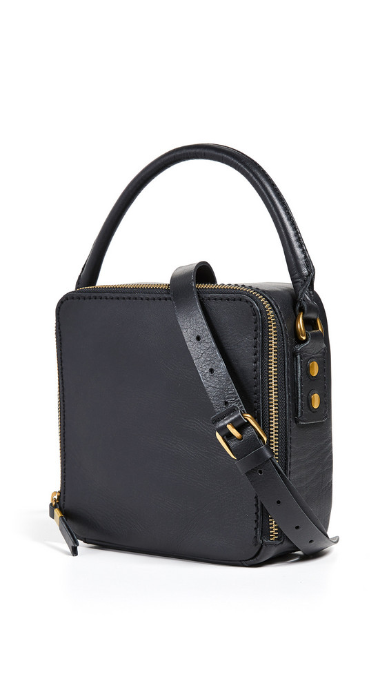 Madewell Square Satchel in black