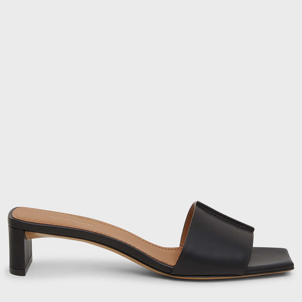 Mansur Gavriel Low Mule - Black
