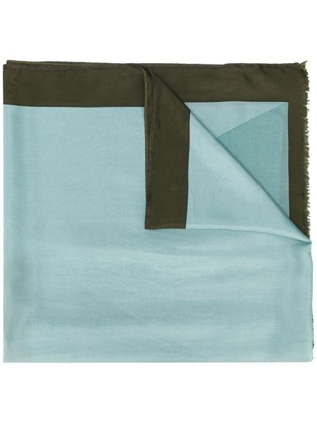Altea two-tone silk scarf in blue