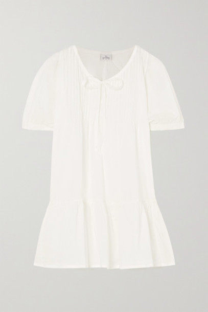 Pour Les Femmes - Ruffled Cotton-voile Nightdress - White