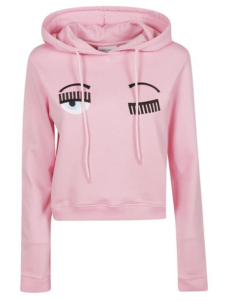 Chiara Ferragni Embroidered Hoodie in pink