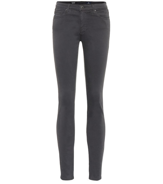 AG Jeans The Prima mid-rise skinny jeans in grey