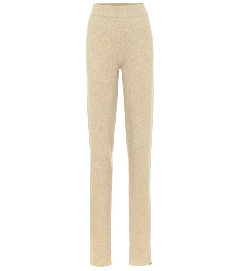 Extreme Cashmere Legs cashmere-blend lounge pants in beige