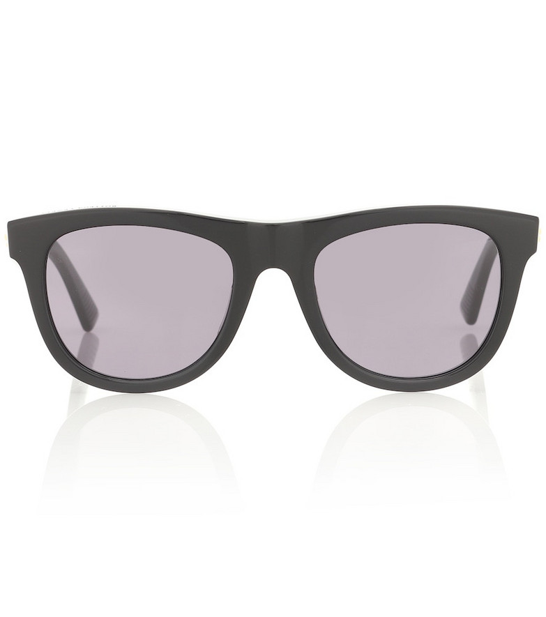 Bottega Veneta 01 D-frame acetate sunglasses in black