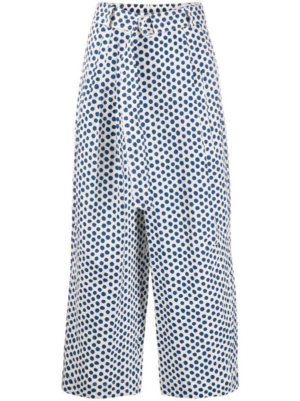 Christian Wijnants Pili polka dot trousers in blue