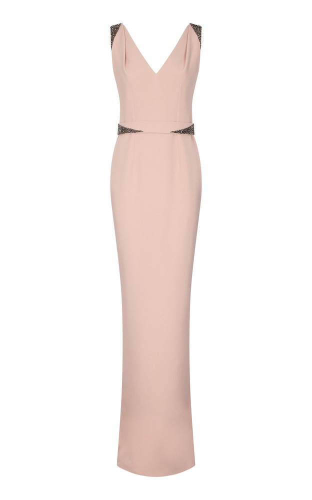 Safiyaa Antheia Embellished Cutout Crepe Dress in pink