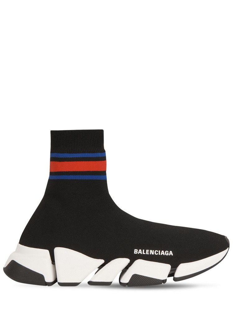 BALENCIAGA 30mm Speed 2.0 Knit Sneakers in black