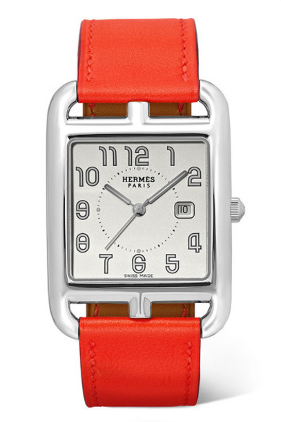 Hermès timepieces - Cape Cod Automatic 29mm Large Stainless Steel And Leather Watch - Silver
