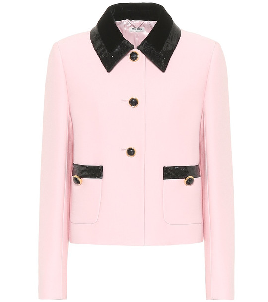 Miu Miu Crêpe jacket in pink