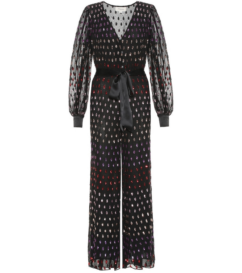 Temperley London Wendy sequined tulle jumpsuit in black