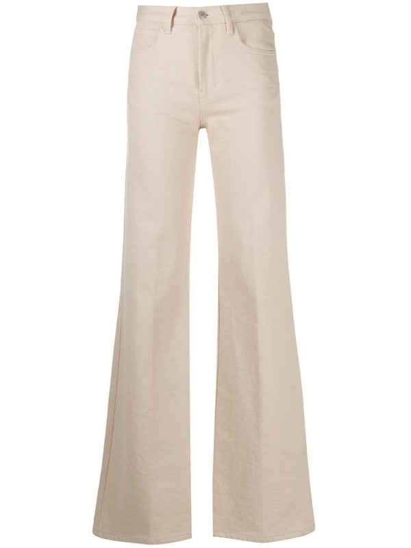 AMI Paris high-waisted flared jeans in neutrals