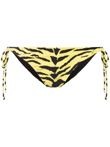 Saint Laurent tiger print bikini bottom in yellow