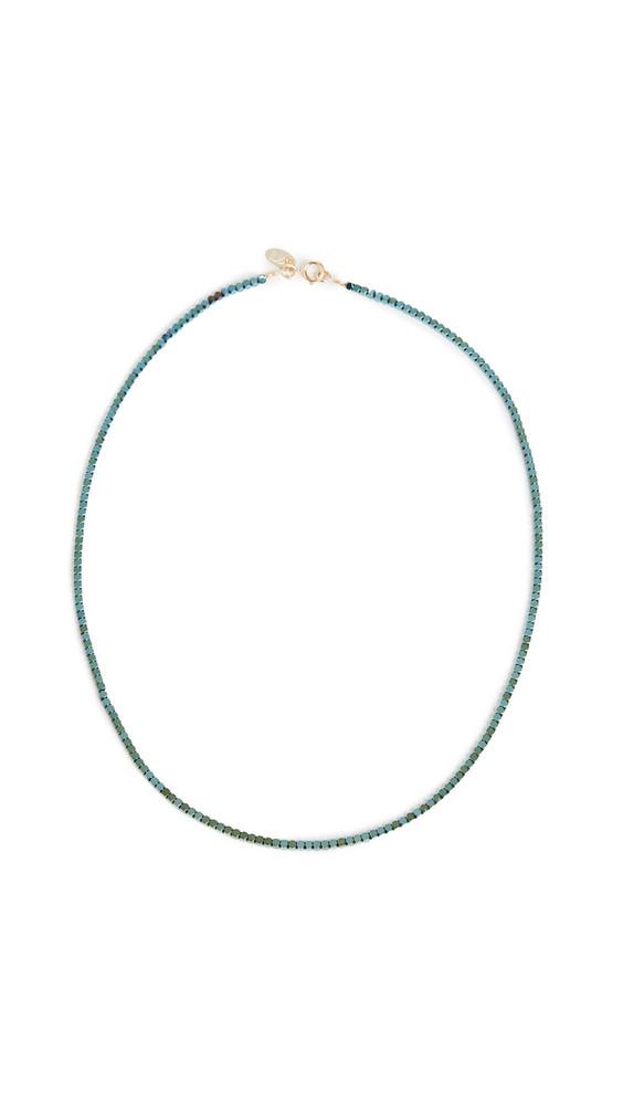 Maison Monik Disco Necklace in green / metallic