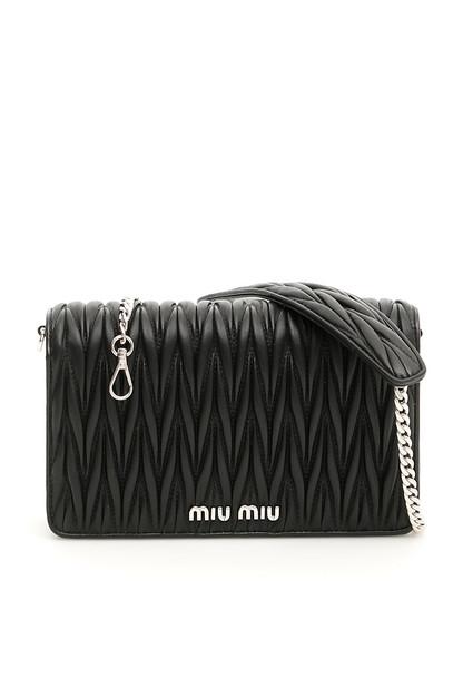 Miu Miu Matelassé Délice Bag in black