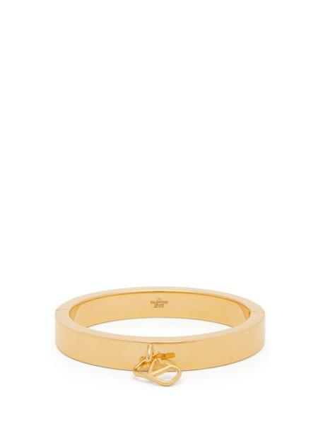 Valentino - V Logo Cuff Bracelet - Womens - Gold