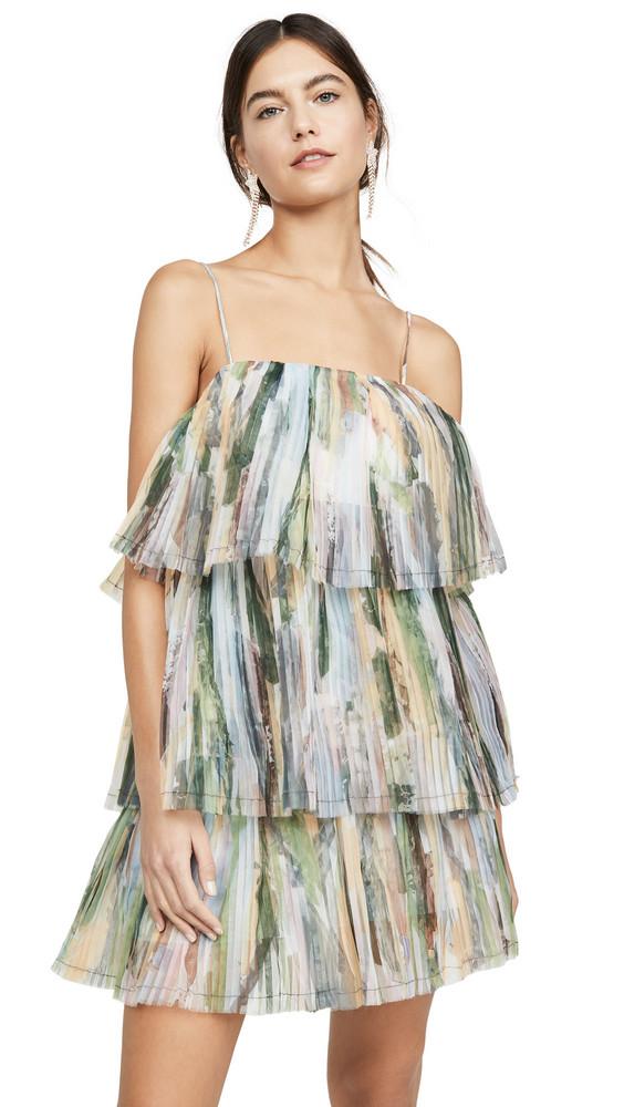 Aje Paperbark Sunray Mini Dress in multi