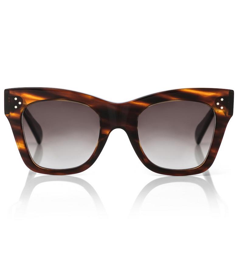 Celine Eyewear Cat-eye acetate sunglasses in brown
