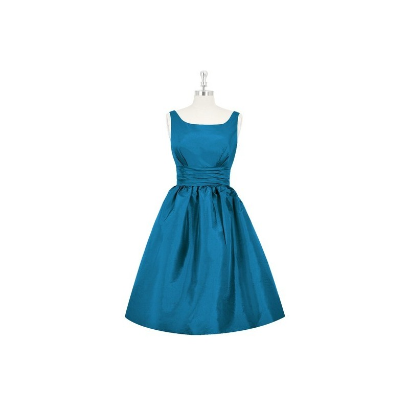 Ink_blue Azazie Kira - Scoop Scoop Taffeta Knee Length Dress - Charming Bridesmaids Store