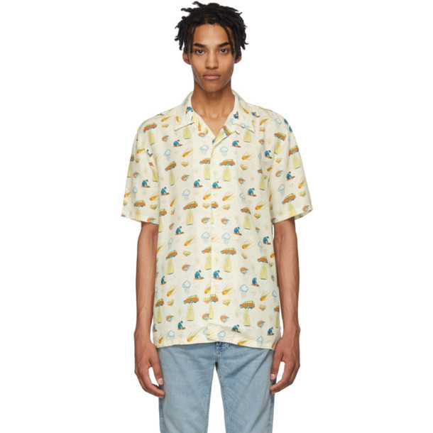 Nudie Jeans White West Coast Remix Arvid Shirt