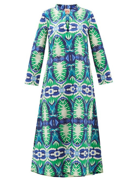 Le Sirenuse, Positano - Giada Printed Cotton Dress - Womens - Green Print