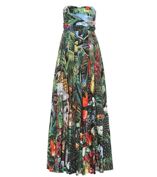 Dolce & Gabbana Printed cotton maxi dress