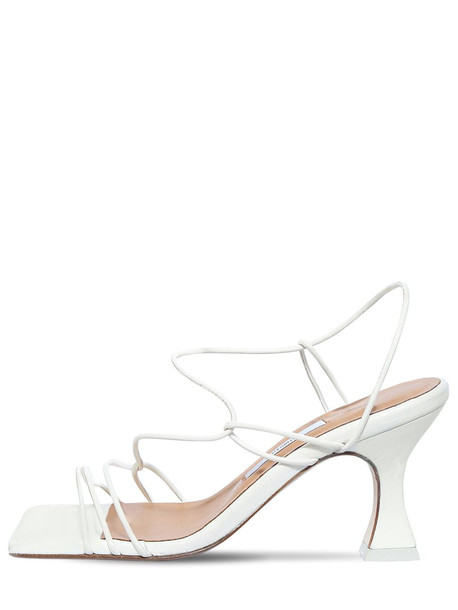 MIISTA 80mm Sally Leather Sandals in white
