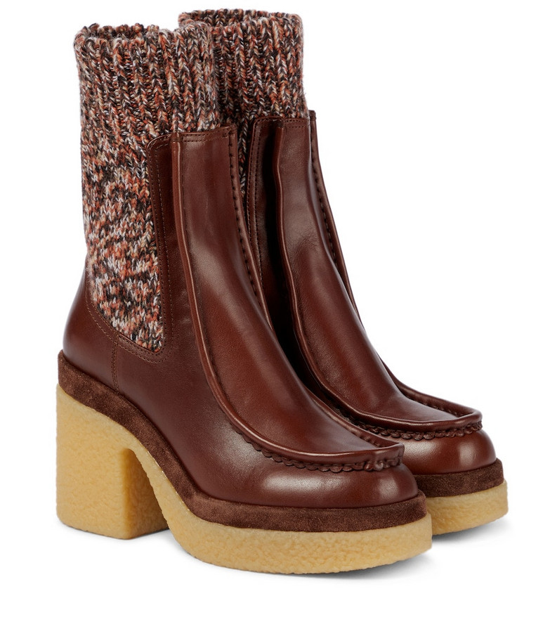 Chloé Jamie leather Chelsea boots in brown