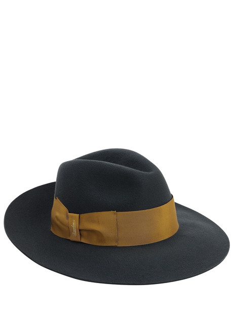 BORSALINO Cashmere Fedora Hat in grey