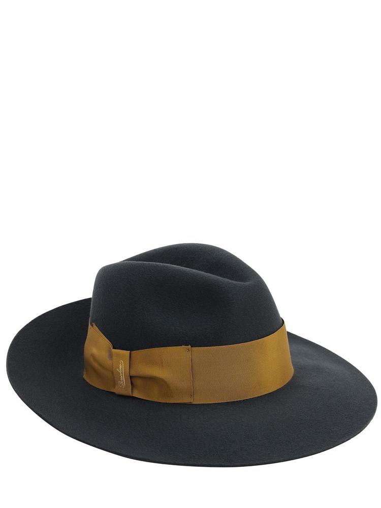BORSALINO Cashmere Fedora Hat in grey