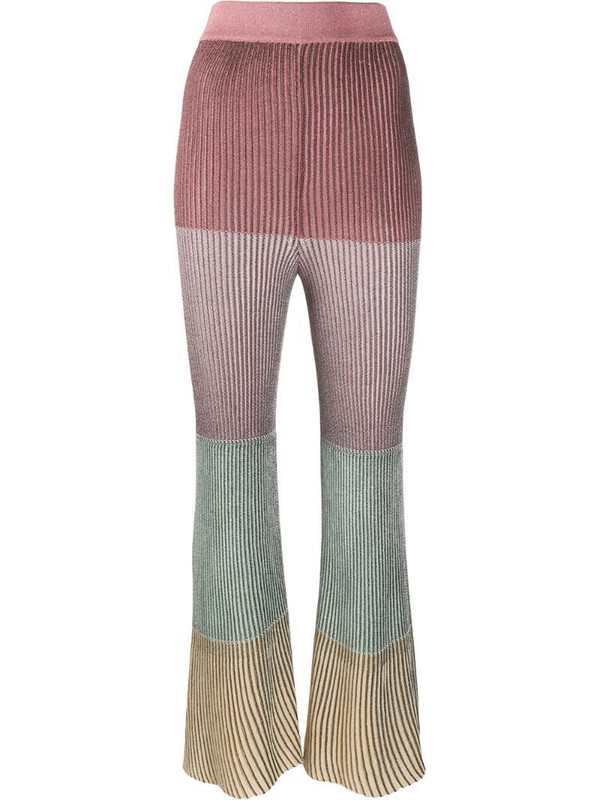 Marco De Vincenzo cropped flared trousers in pink