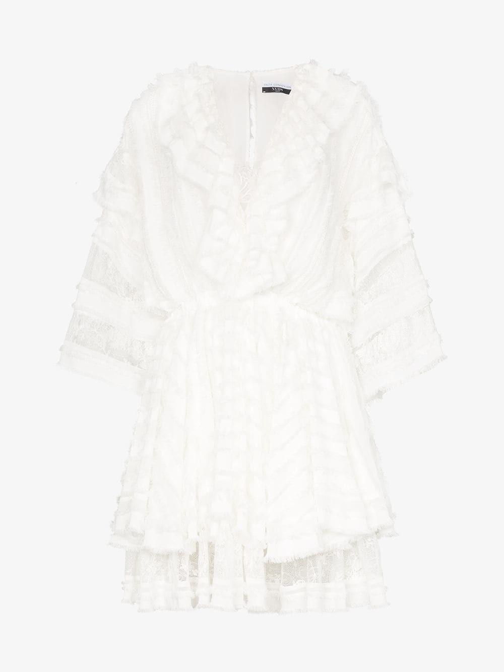 Faith Connexion layered lace mini dress in white