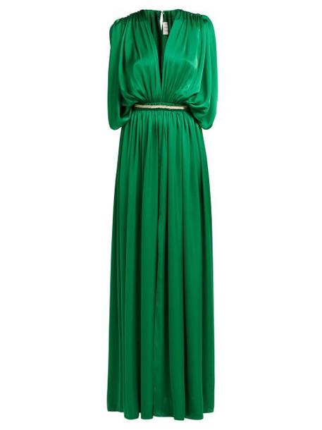 Maison Rabih Kayrouz - Draped Charmeuse Gown - Womens - Green