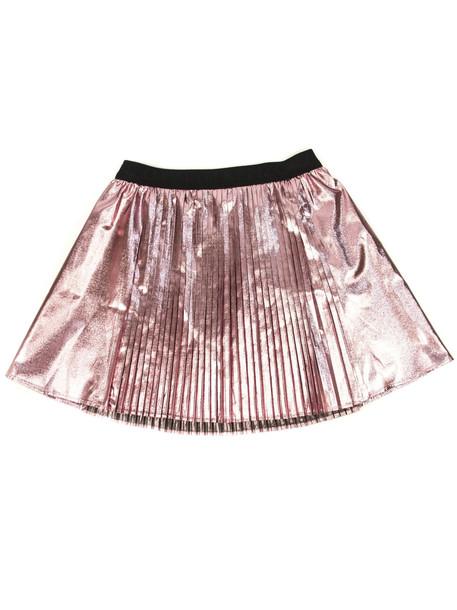 Kenzo Pink Metallic Pleated Skirt