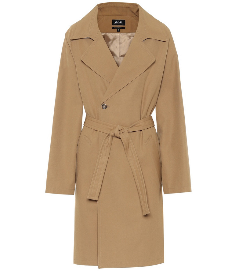 A.P.C. Double-breasted trench coat in beige