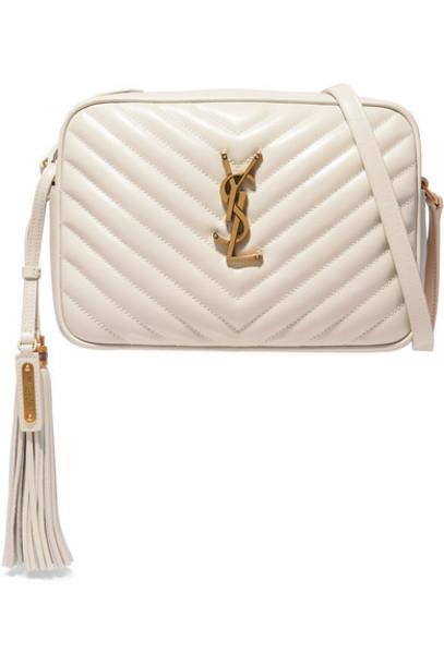 SAINT LAURENT - Lou Medium Quilted Leather Shoulder Bag - White