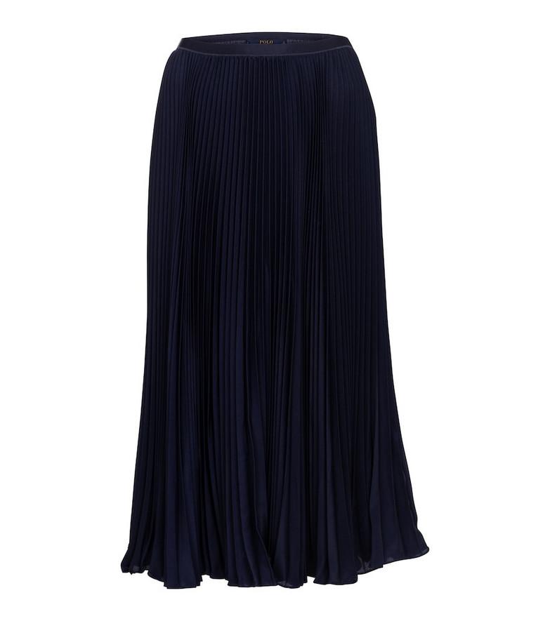 Polo Ralph Lauren High-rise pleated maxi skirt in blue