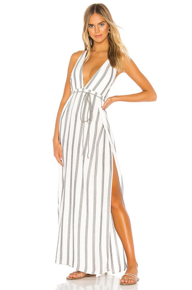 Indah River Maxi Dress in white