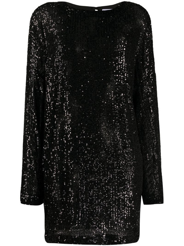 In The Mood For Love Alexandra sequin shift dress in black