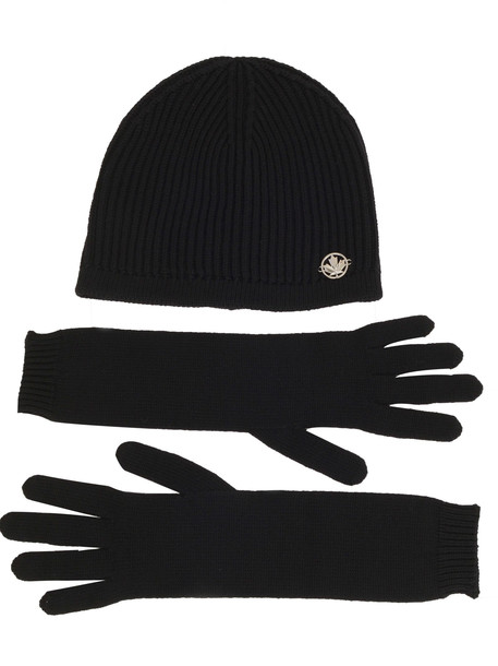 Beanie And Gloves Dsquared2 in black