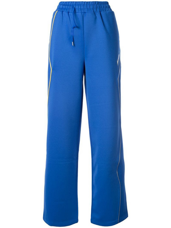 Ader Error wide-leg track pants in blue