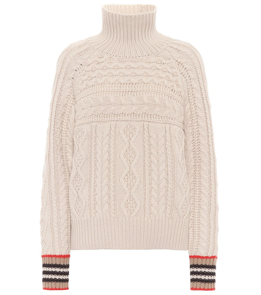 Burberry Cashmere turtleneck sweater in beige