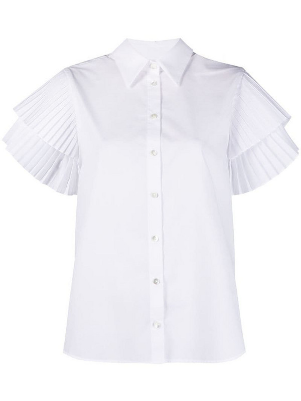 P.A.R.O.S.H. pleated-sleeve shirt in white